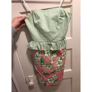 Lilly Pulitzer peplum seersucker dress 00